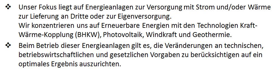 2.2.1d Leistungen Optimierung von Energieanlagen