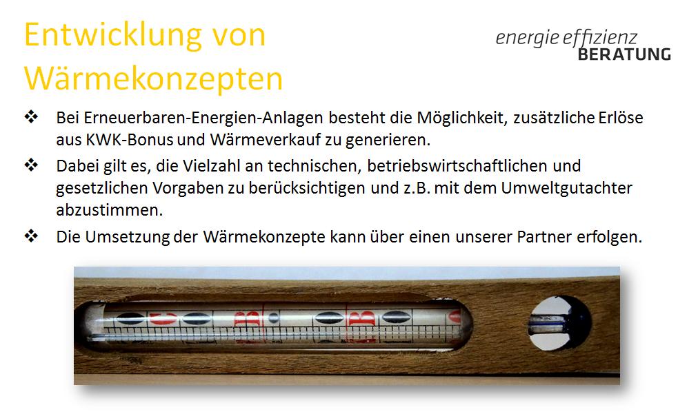 2.4a Leistungen Entwicklung von Wärmekonzepten