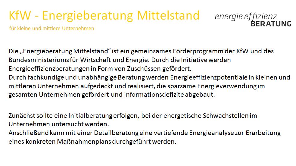 2.5a KfW - Energieberatung Mittelstand